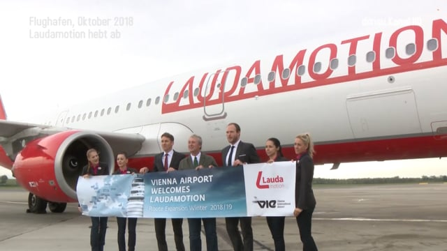 Flughafen Wien . Laudamotion Erstflug nach Dublin