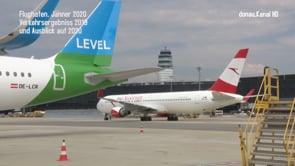 Flughafen Wien . Verkehrsergebnisse 2019 und Ausblick auf 2020