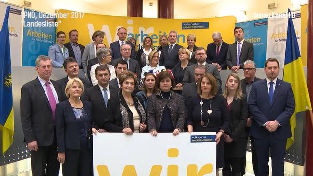 ÖVP NÖ präsentiert Liste für Landtagswahl 2018