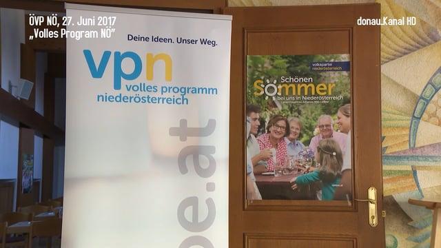 """ÖVP NÖ: """"Volles Programm NÖ"""""""