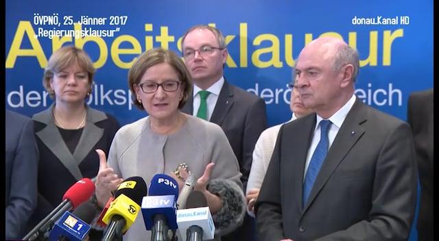 Regierungsklausur der ÖVP Niederösterreich 2017